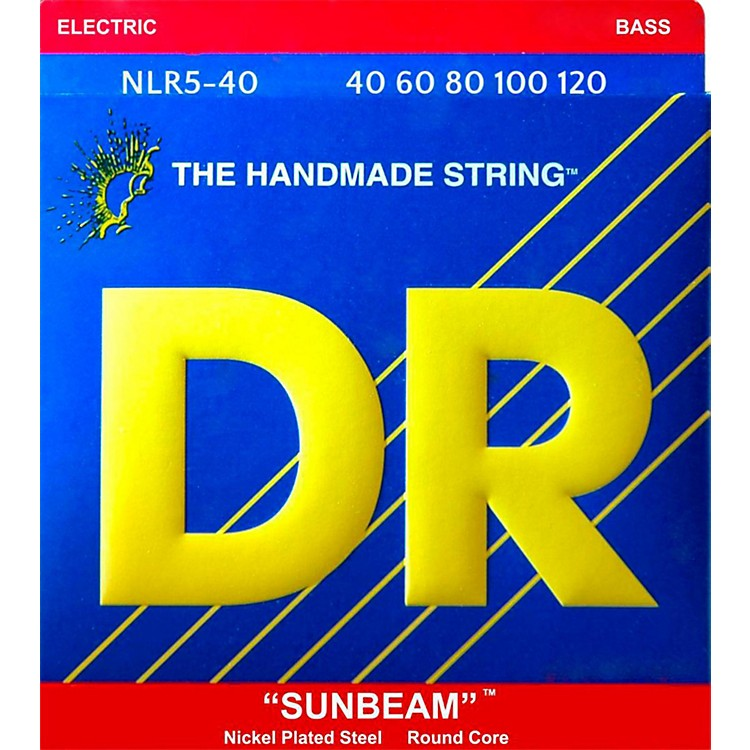 DR StringsSUNBEAM  Nickel Plated 5-String Bass Strings Lite (40-120)