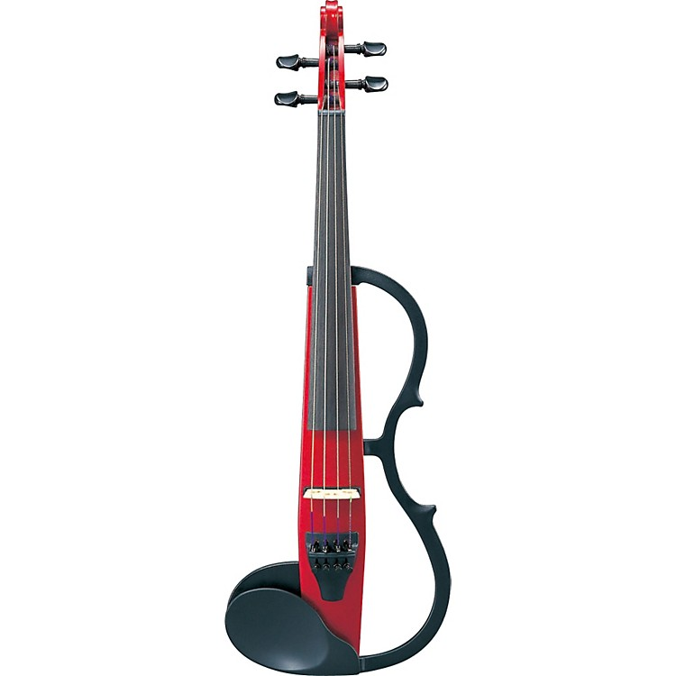 Yamaha SV-130 Series Silent Electric Violin Outfit Candy Apple Red Outfit