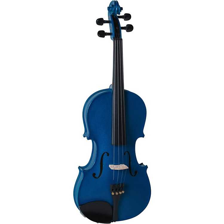 Cremona SV-130BU Series Sparkling Blue Violin Outfit 4/4 Size