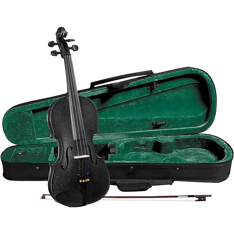 CremonaSV-75BK Premier Novice Series Sparkling Black Violin Outfit