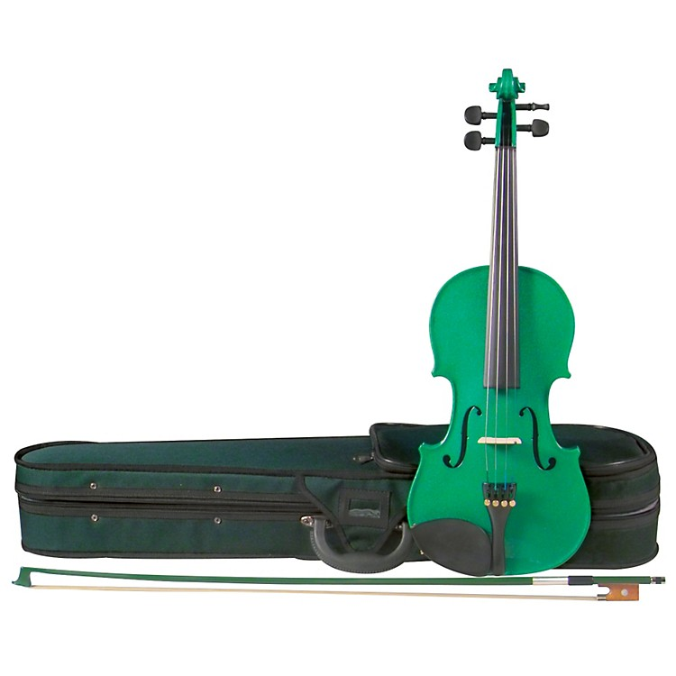 Cremona SV-75GN Premier Novice Series Sparkling Green Violin Outfit 4/4 Outfit