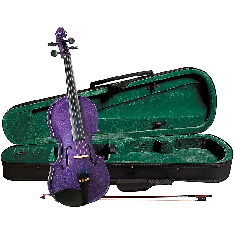 Cremona SV-75PP Premier Novice Series Sparkling Purple Violin Outfit 4/4 Outfit