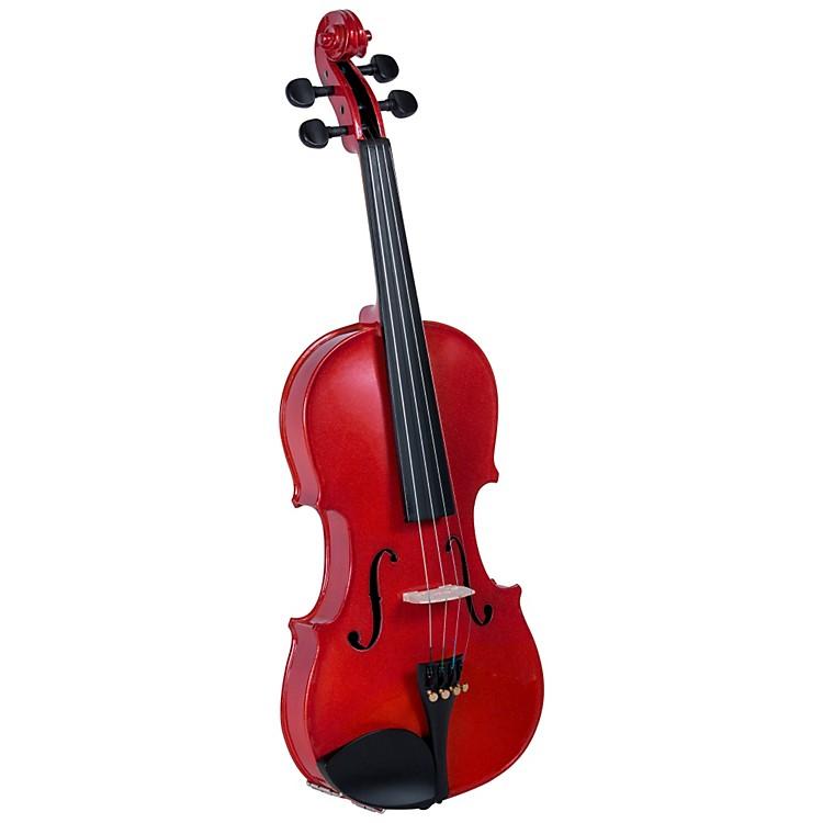 CremonaSV-75RD Premier Novice Series Sparkling Red Violin Outfit