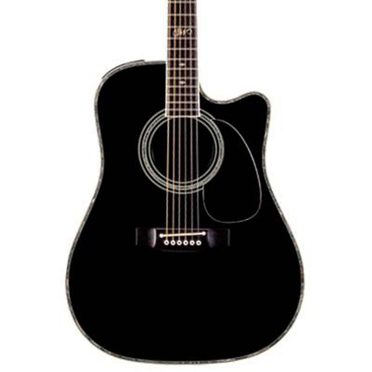 TakamineSW341SC Steve Wariner Signature Dreadnought Acoustic-Electric GuitarGloss Black
