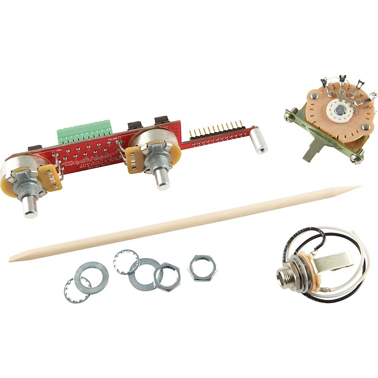 ToneShaperSW3D 3-Way Switch and Knobs for Telecaster with Bridge Single Coil and Neck Humbucker