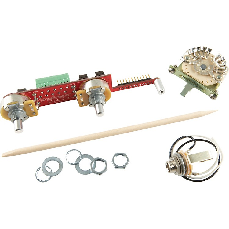 ToneShaperSW5C 5-Way Switch and Knobs for Telecaster with Bridge Single Coil and Neck Humbucker