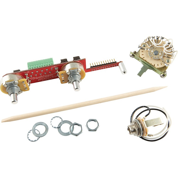 ToneShaperSW5E 5-Way Switch and Knobs for Telecaster with Bridge Humbucker and Neck Single Coil