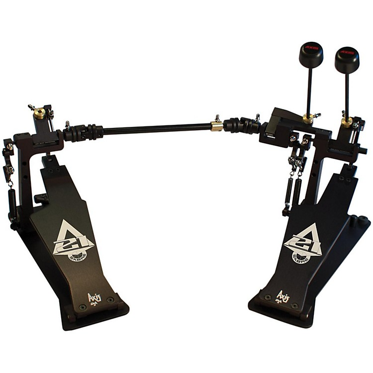 AxisSabre A21 Double Bass Drum Pedal with Microtune Spring TensionerClassic Black