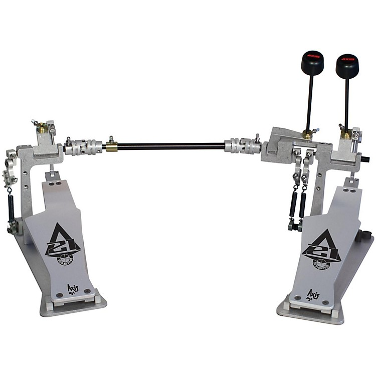 Axis Sabre A21 Double Bass Drum Pedal with Microtune Spring Tensioner Silver