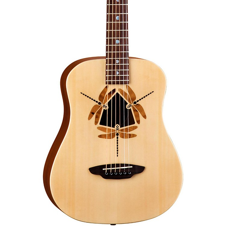 Luna Guitars Safari Dragonfly 3/4 Size Travel Acoustic Guitar