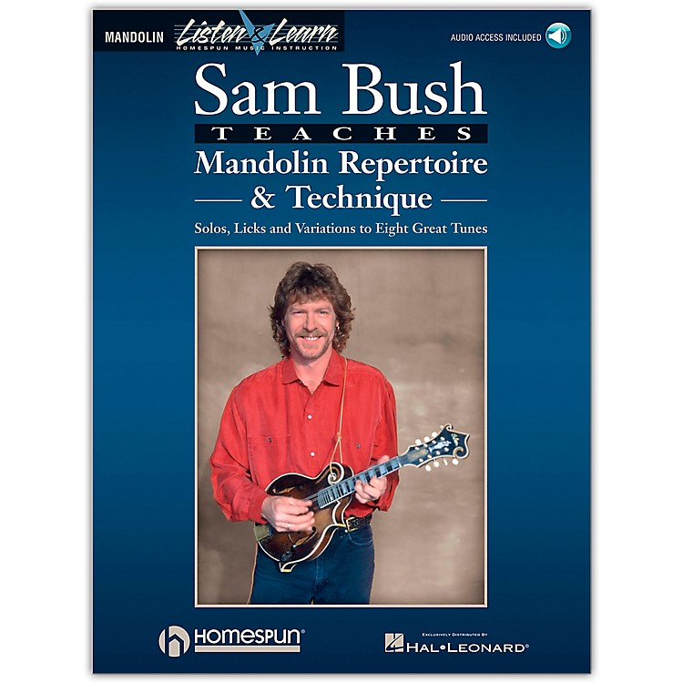 Homespun Sam Bush Mandolin Repertoire & Technique Book/CD Listen & Learn Series