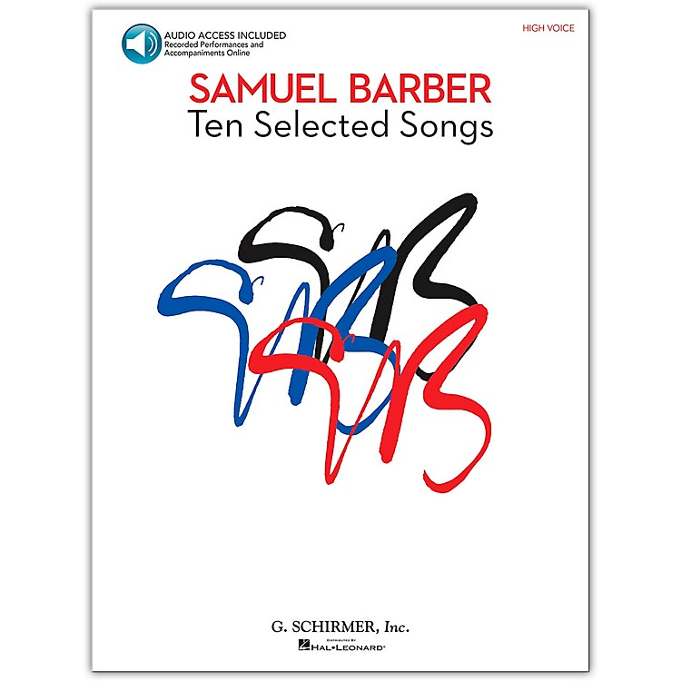 G. Schirmer Samual Barber - Ten Selected Songs High Voice Book/CD &nbsp