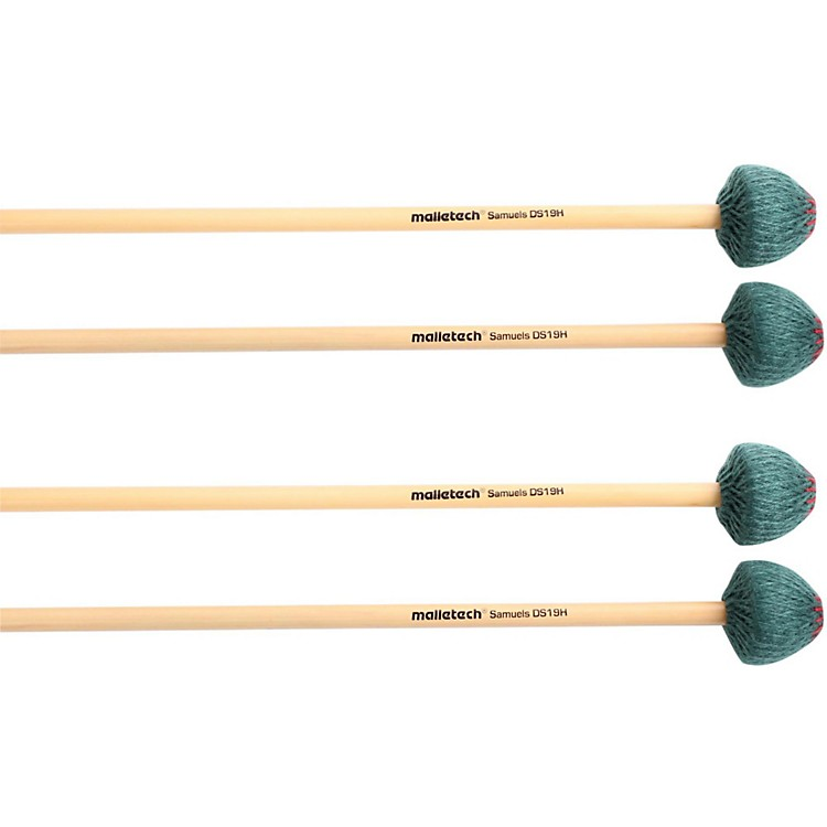 Malletech Samuels Vibraphone Mallets Set of 4 (2 Matched Pairs) Hard Heavy