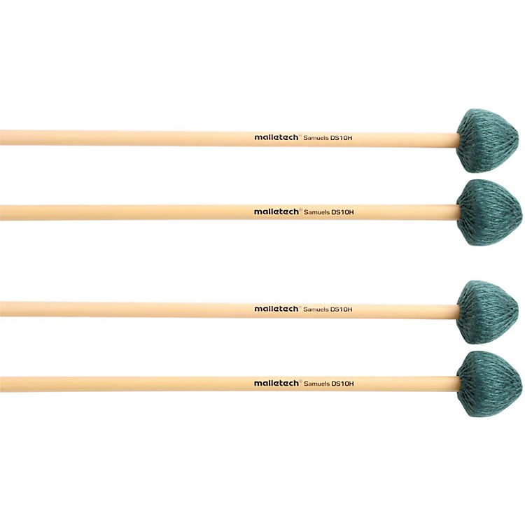 Malletech Samuels Vibraphone Mallets Set of 4 (2 Matched Pairs) Soft Heavy