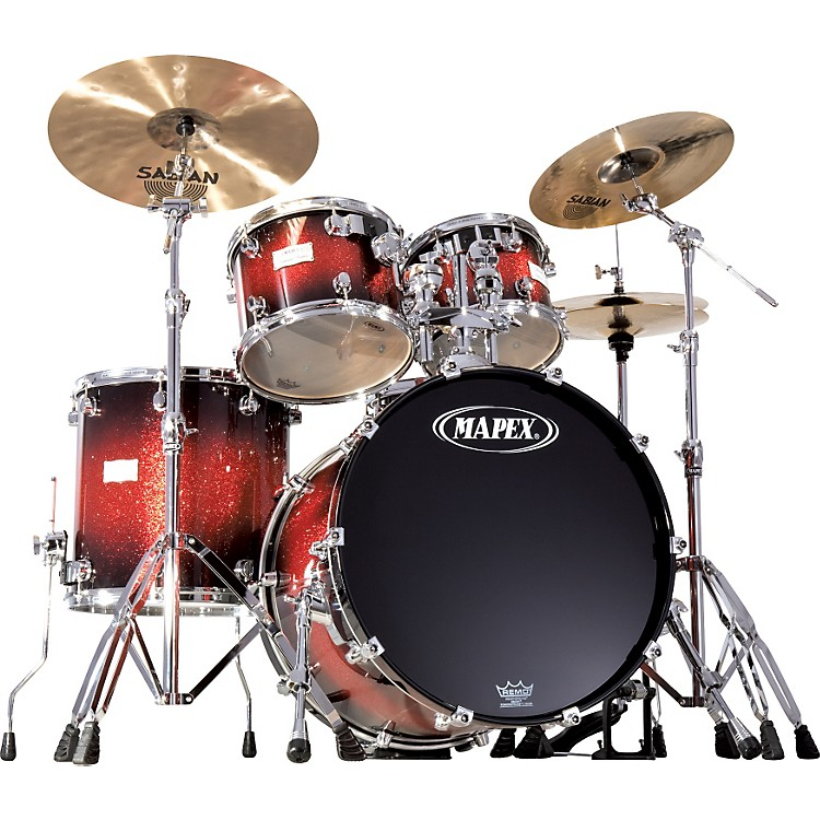 Mapex Saturn 5 Piece Standard Shell Pack Super Red Nova Burst
