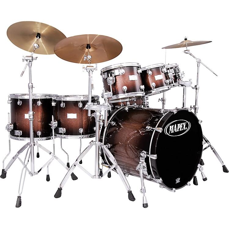 mapex saturn plus bass fusion pop 22 7 piece drum set music123. Black Bedroom Furniture Sets. Home Design Ideas
