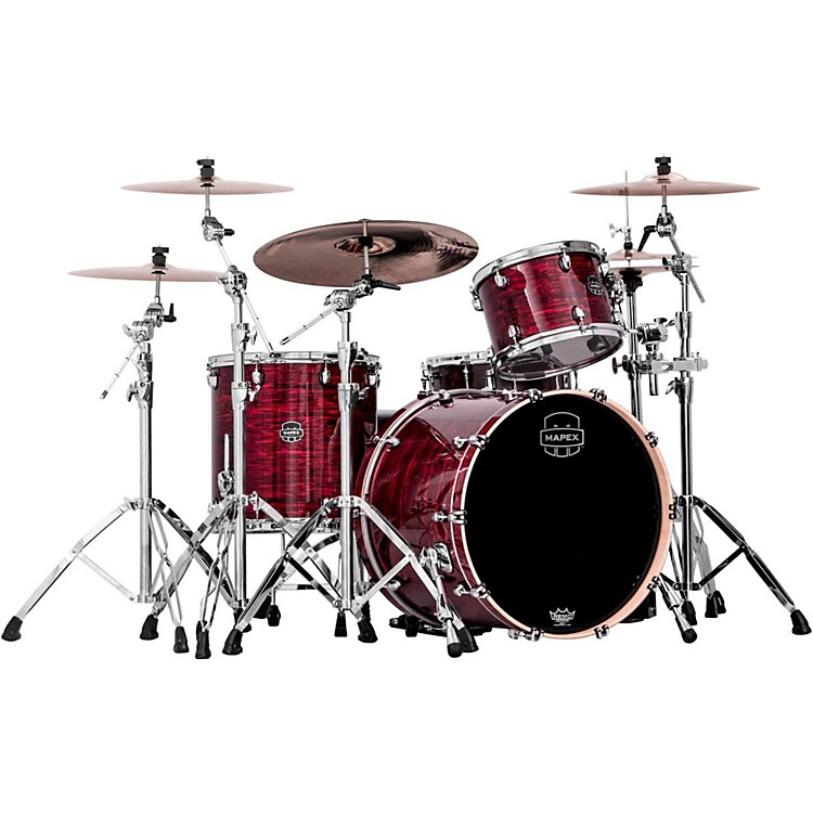 Mapex Saturn V 3-Piece Rock Shell Pack Red Strata Pearl Custom Wrap
