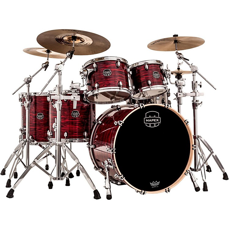 Mapex Saturn V MH 5-Piece Studioease Shell Pack Red Strata Pearl Custom Wrap