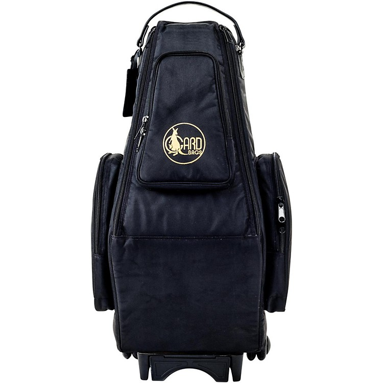 Gard Saxophone Wheelie Bag in Synthetic with Leather Trim Fits 2 Altos or Alto/Soprano