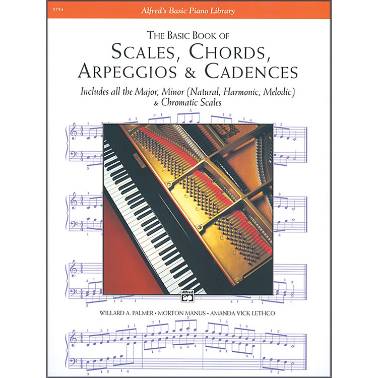 Alfred Scales Chords Arpeggios & Cadences Basic Book Piano