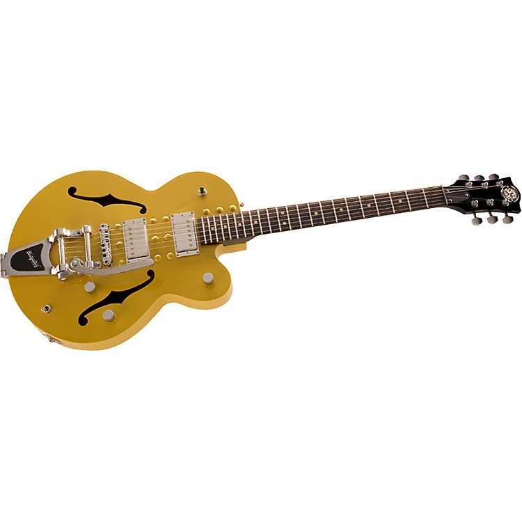 NormandySchoolbus Powder Coat Archtop Guitar with Bigsby Vibrato Tailpice