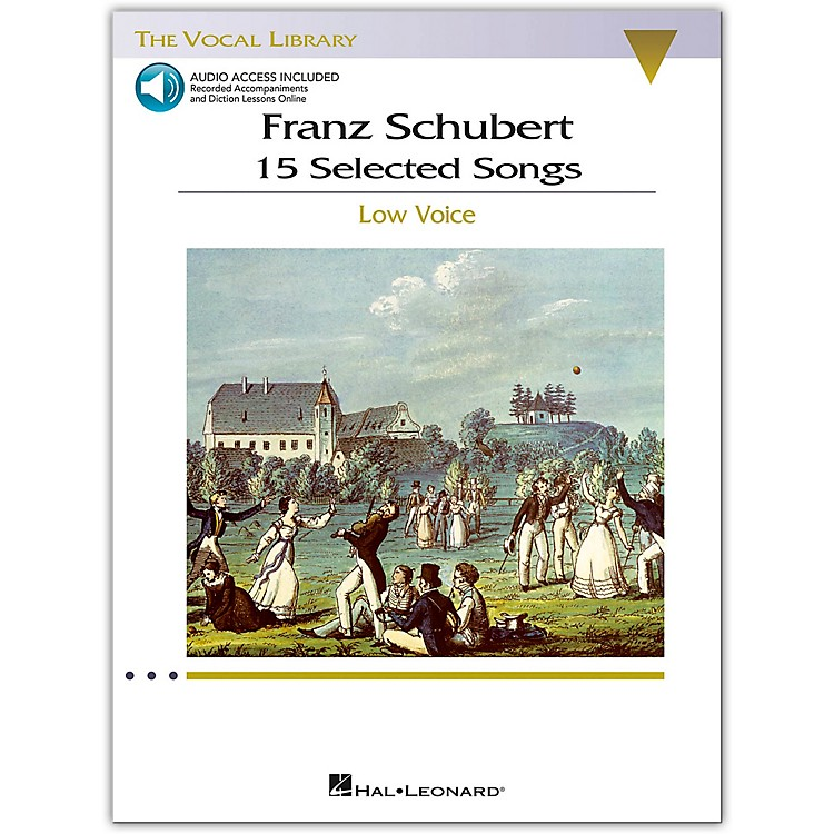 Hal LeonardSchubert - 15 Selected Songs for Low Voice (The Vocal Library) Book / 2 CD's