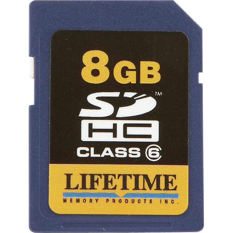 Lifetime Memory Products Secure Digital 8GB SDHC Card