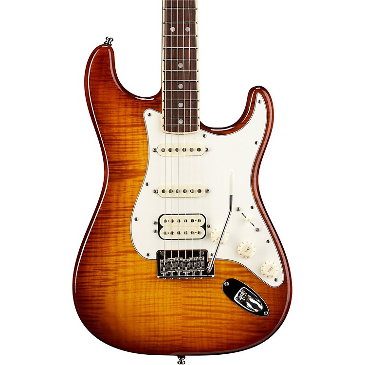 Fender Select Stratocaster HSS Electric Guitar Tobacco Sunburst Rosewood Fingerboard
