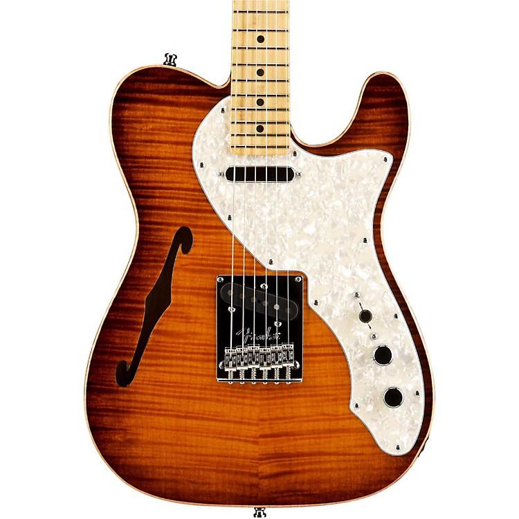 FenderSelect Thinline Telecaster Electric GuitarViolin BrownMaple Fingerboard