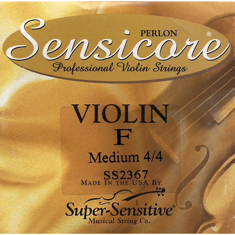 Super Sensitive Sensicore Violin Strings for 6-String Violin F, Medium, Nickel 4/4 Size