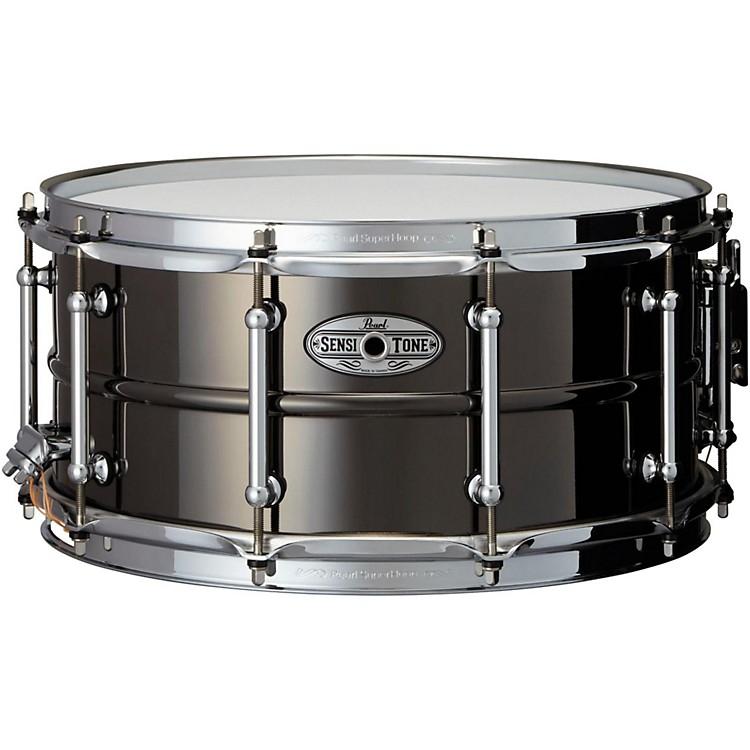PearlSensitone Beaded Brass Snare Drum14 x 6.5 in.Black