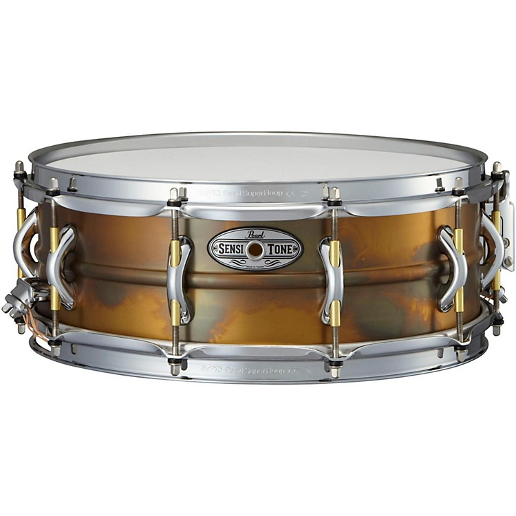 PearlSensitone Premium Beaded Patina Brass Snare Drum14 x 5 in.