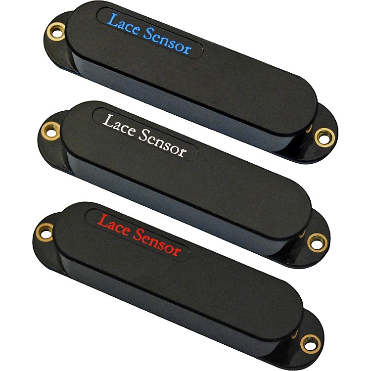 Lace Sensor Blue-Silver-Red 3-Pack S-S-S Pickup Set Black