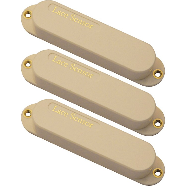Lace Sensor Gold Guitar Pickups 3-Pack S-S-S Set Cream