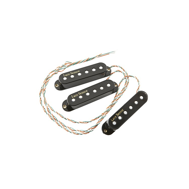 Lace Sensor Gold V-Series Electric Guitar Pickups 3-Pack Black