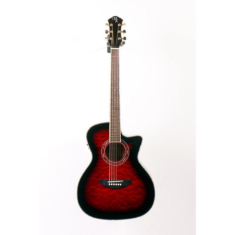 Michael KellySeries 15 Arena Cutaway Acoustic-Electric GuitarTrans Red888365062303