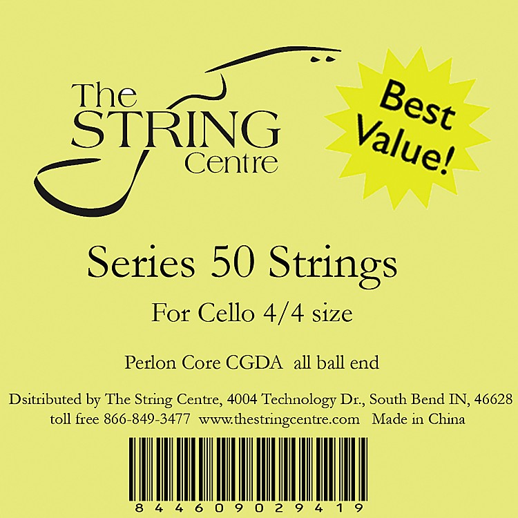 The String Centre Series 50 Cello String Set 3/4 Size