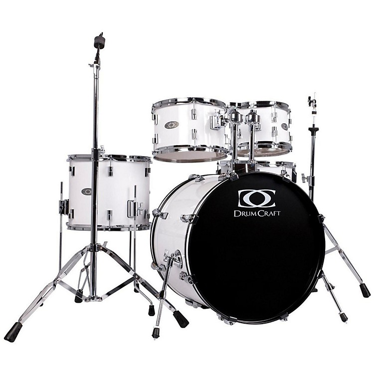 DrumCraft Series One 5-Piece Fusion Drumset Snow White