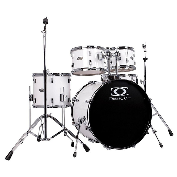 DrumCraft Series Three 5-Piece Progressive Drumset Snow White