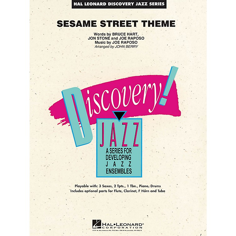 Hal Leonard Sesame Street Theme - Discovery Jazz Series Level 1.5