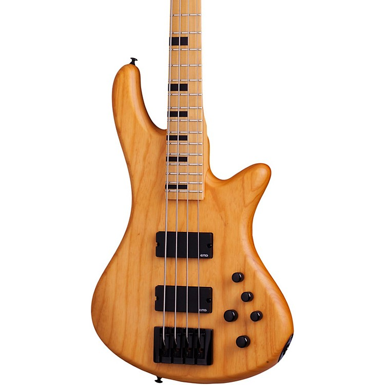Schecter Guitar ResearchSession Stiletto-4 Electric Bass GuitarAged Natural Satin