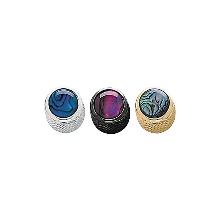 Q Parts Shell Dome Knob Single Gold Blue Abalone