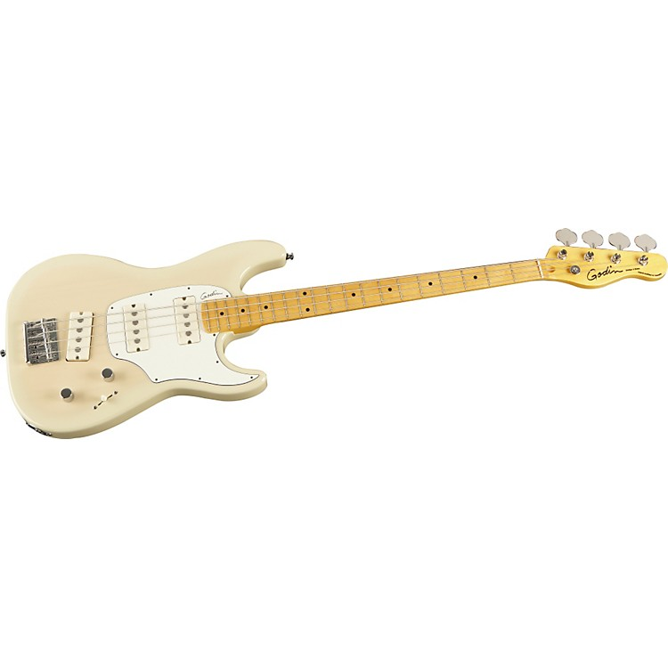 Godin Shifter Electric Bass Guitar Transparent Cream Rosewood Fretboard