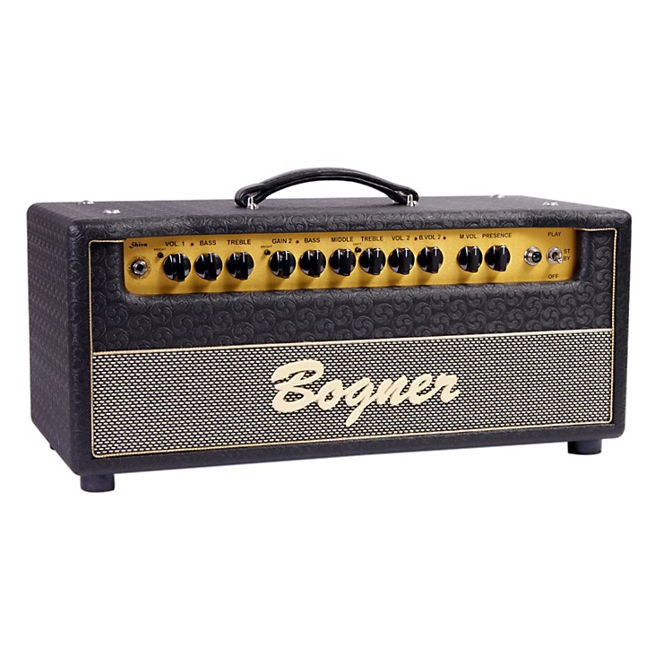 Bogner Shiva Tube Guitar Amp Head with 6L6 Power Tubes Jet Comet Tolex Salt and Pepper Grill