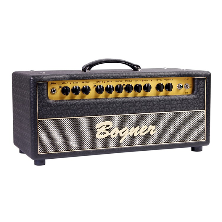 Bogner Shiva Tube Guitar Amp Head with EL34 Power Tubes Jet Comet Tolex Salt and Pepper Grille