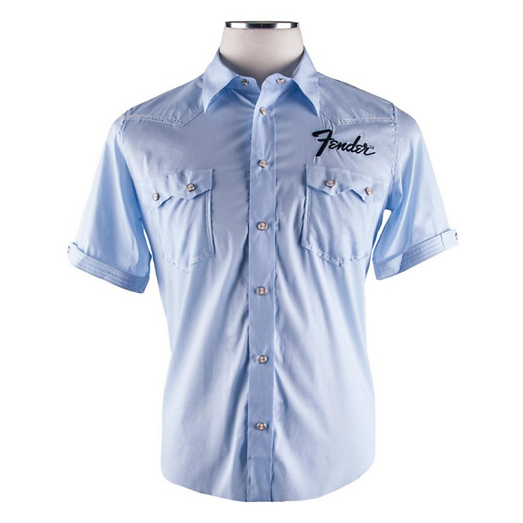 Fender Short Sleeve Garage Shirt Light Blue XX-Large