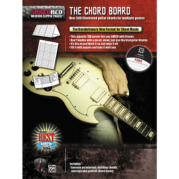 AlfredShredhed Chord Board for Guitar Poster