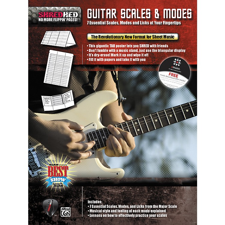 AlfredShredhed Guitar Scales & Modes Poster