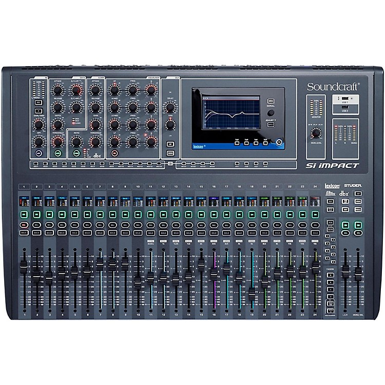 soundcraft si impact 32 channel digital mixer music123. Black Bedroom Furniture Sets. Home Design Ideas