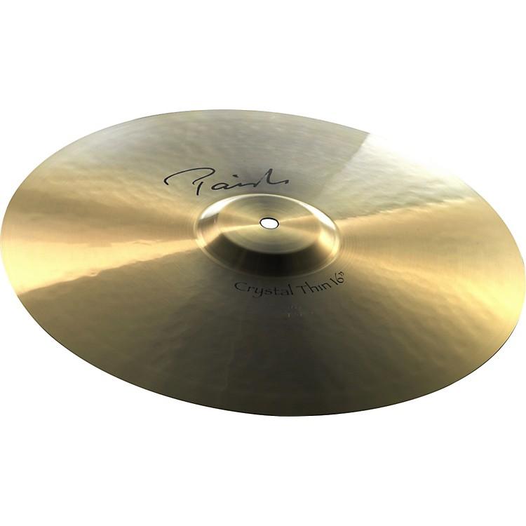 PaisteSignature Crystal Thin Crash Cymbal16 in.